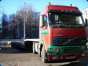 перевозка негабаритных грузов Спецтехника Мазант Групп: Марка тягача - Volvo