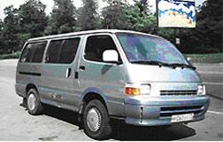 Пассажирские перевозки на микроавтобусах Toyota Hiace